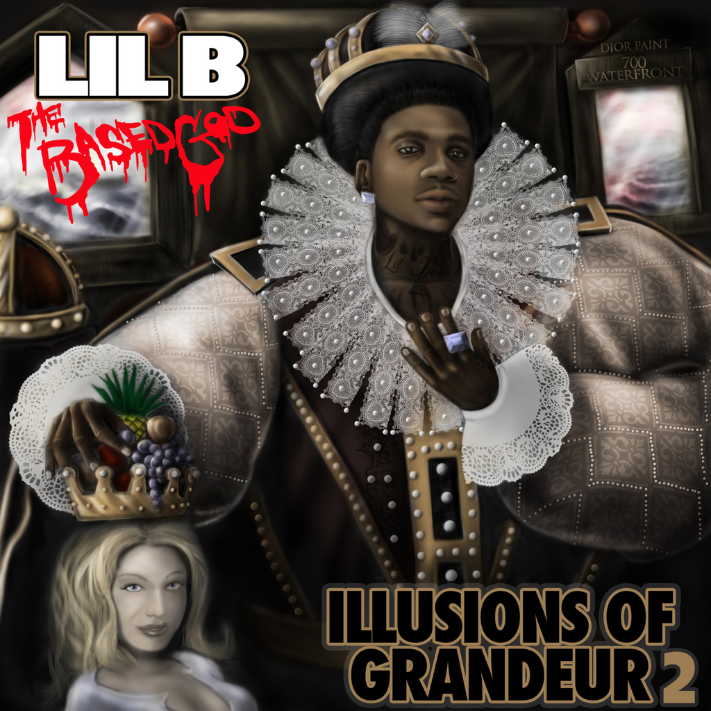 LIL B ILLUSIONS OF GRANDEUR 2 cover by uginc
